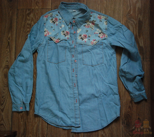 Джинсовая рубашка Aliexpress.