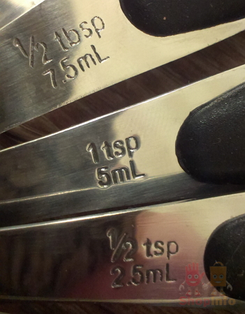 Stainless Steel Measuring Spoons Set.