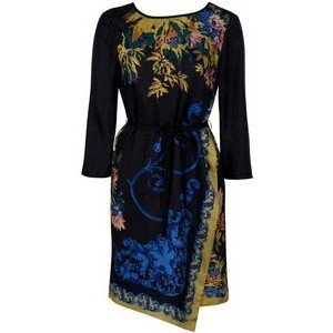 Tibi Baroque Print Dress Dressed.